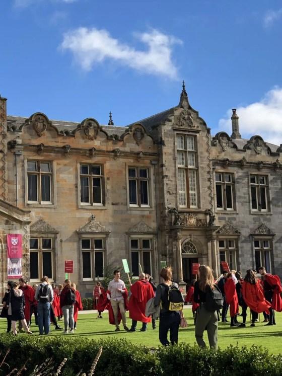 St Andrews university open day student ambassadors