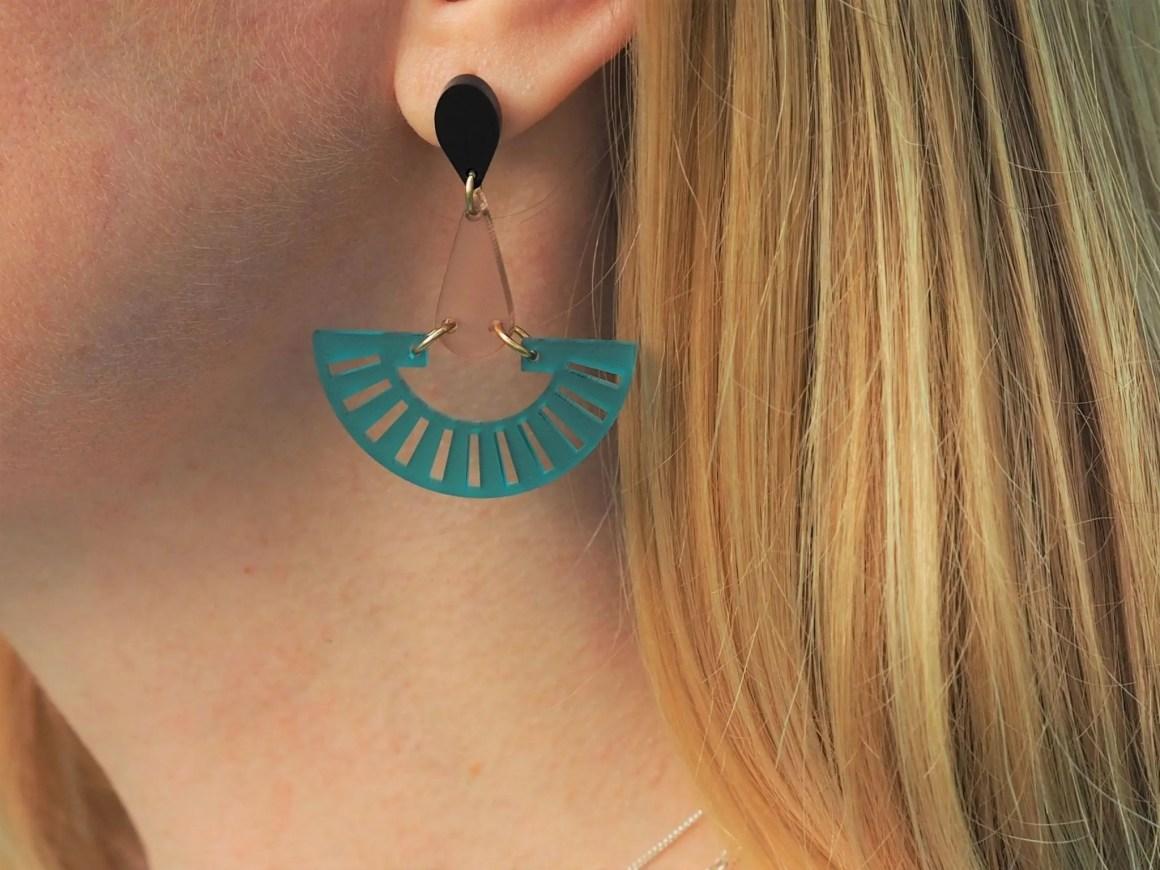 Toolally fandangos large fan earrings