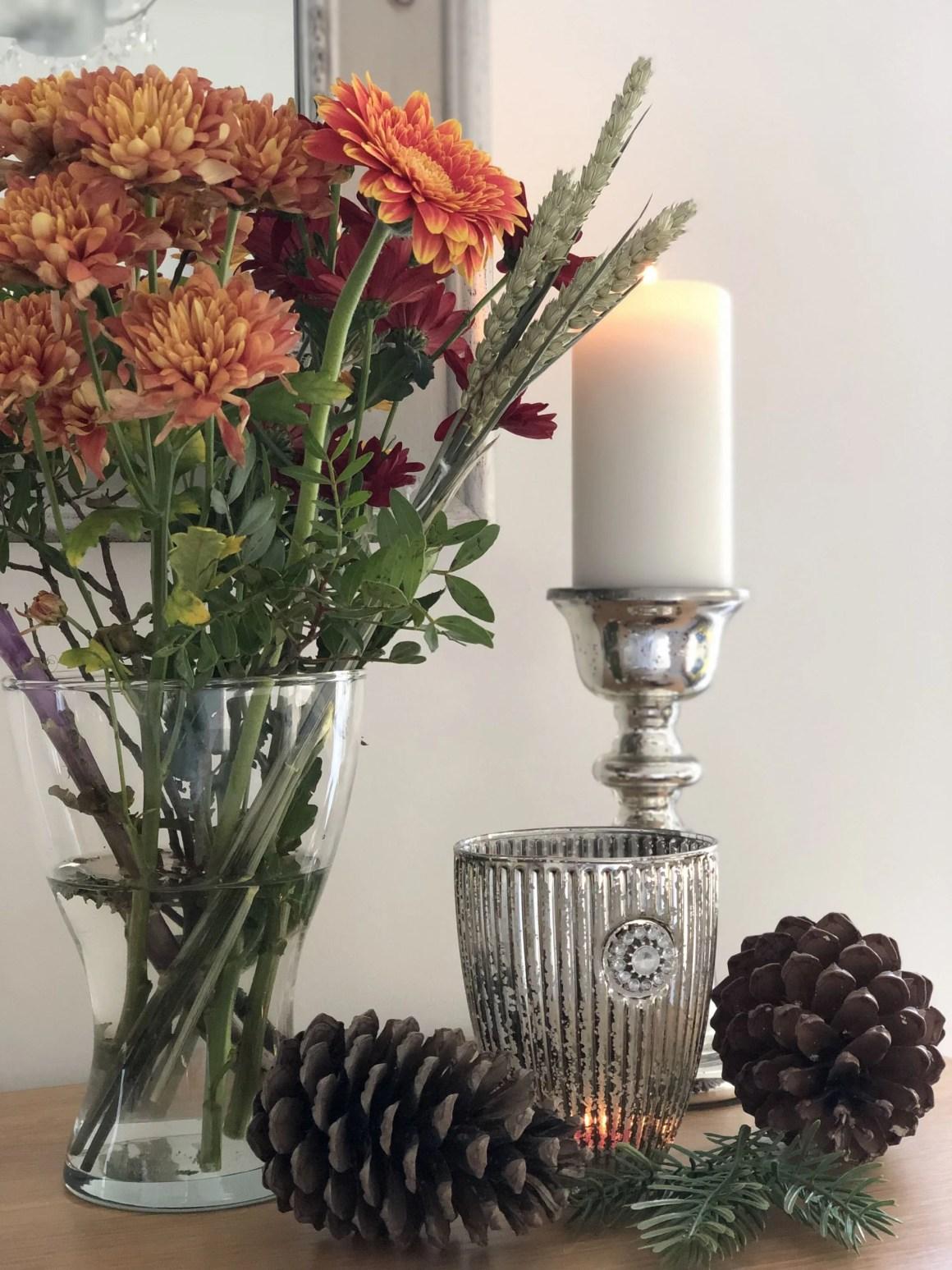 mercurised candles and cones