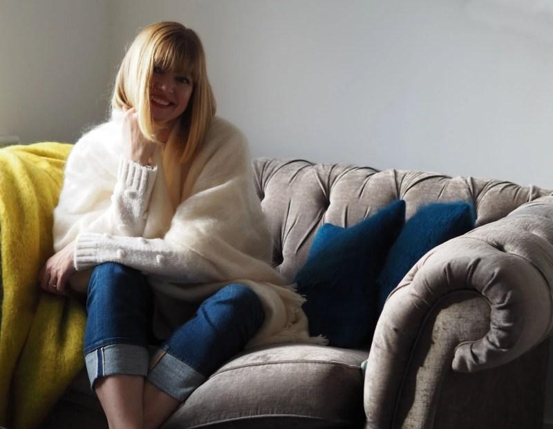 what lizzy loves wearing ecru mohair serape