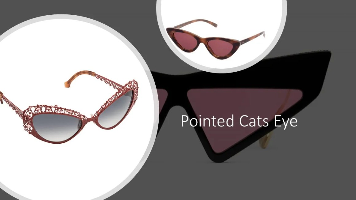 pointed cats eye frames