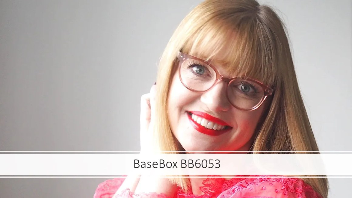 over 40 eyewear blogger wears Basebox pink acetate frame for eyewear week
