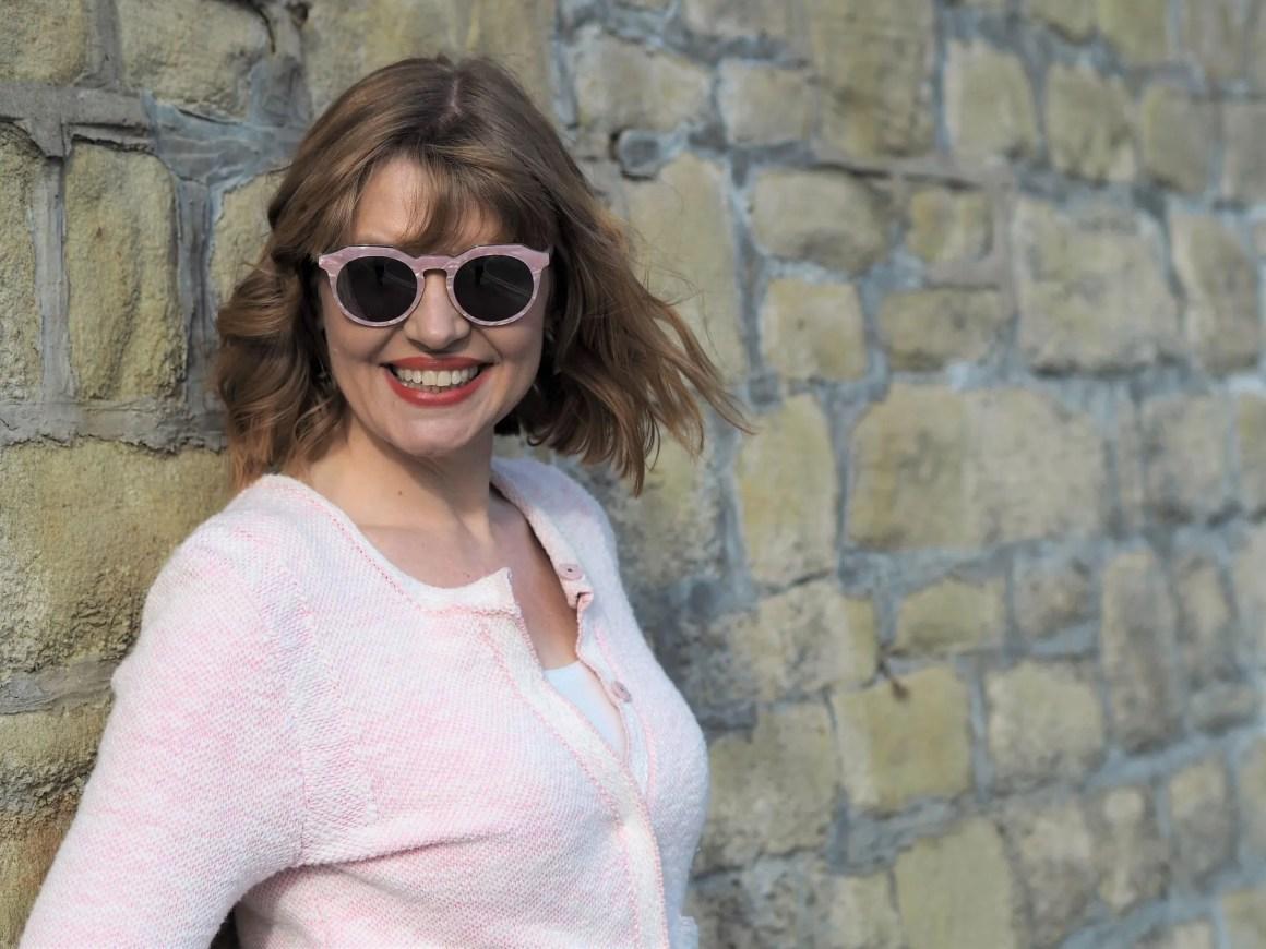 Pala Zola pink marble sunglasses