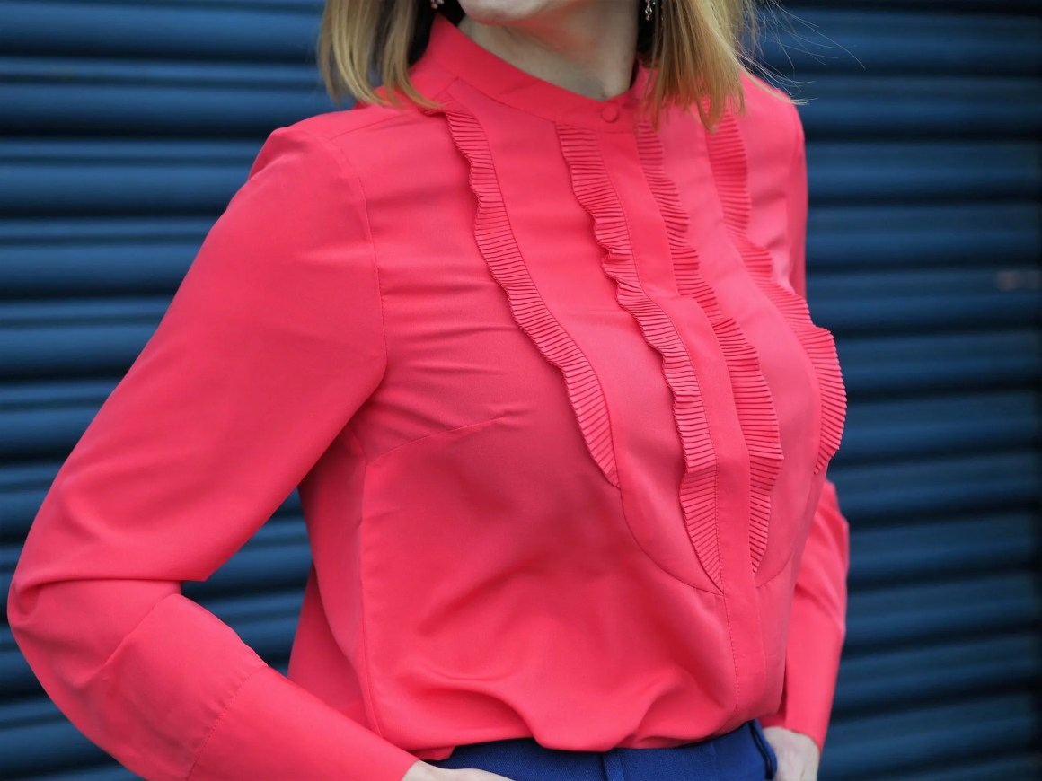 bright pink pintuck Boden blouse