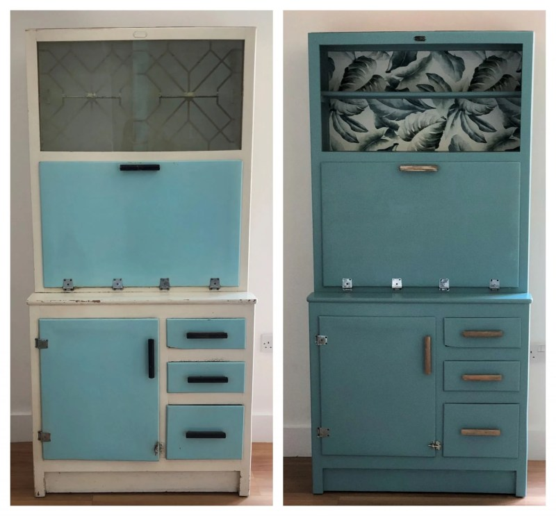 make a cocktail cabinet from a mid-century piece of furniture