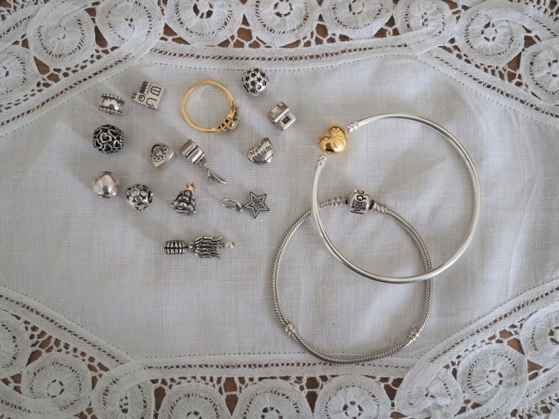 Pandora bracelet, bangle and charms