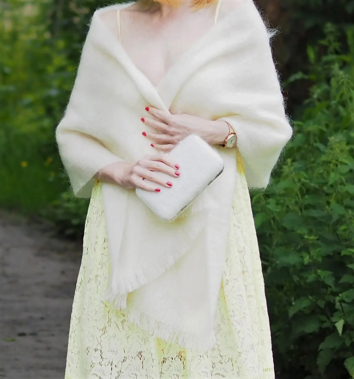 mohair wedding shawl