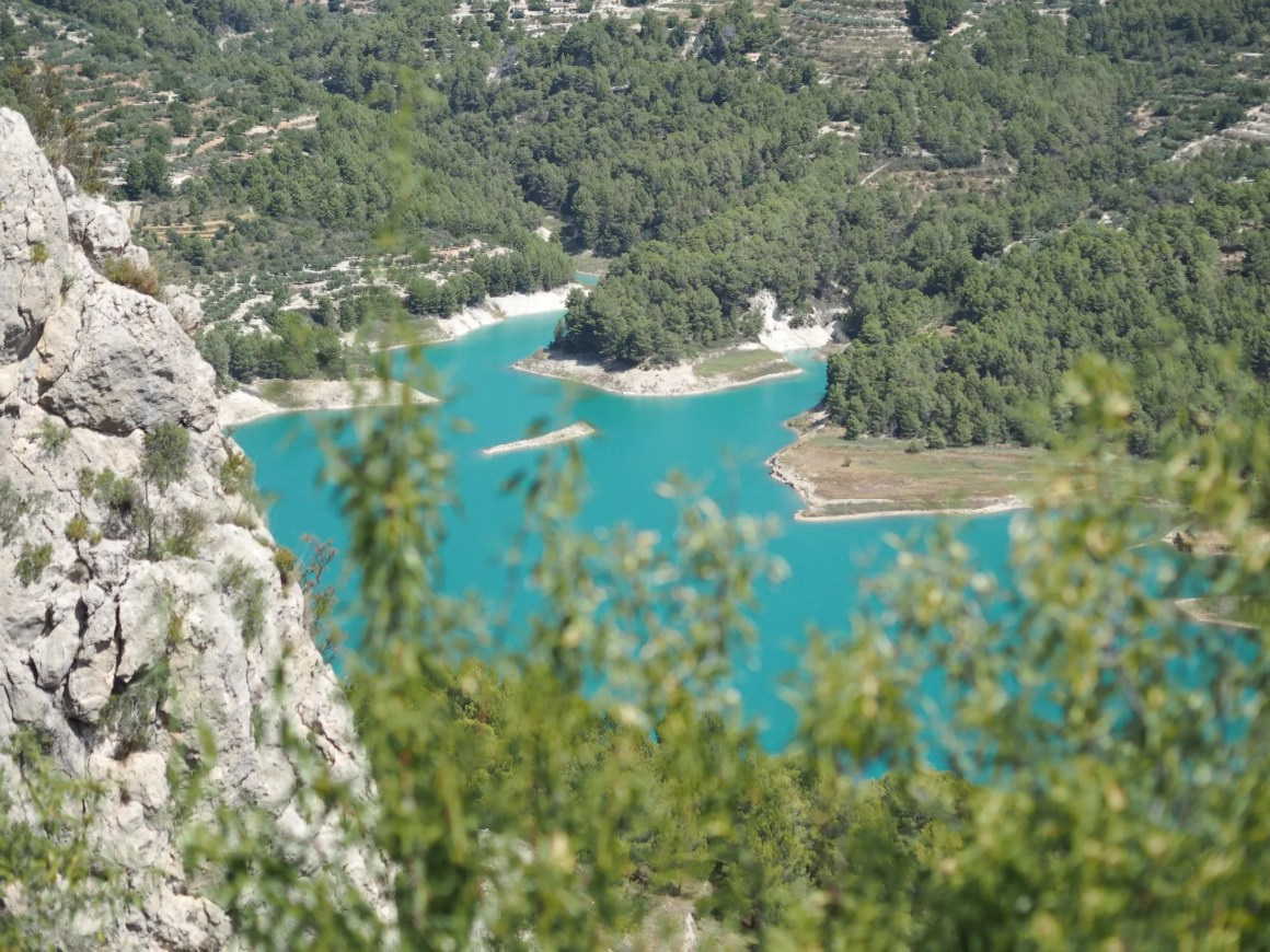 vies of Guadalest reservoir