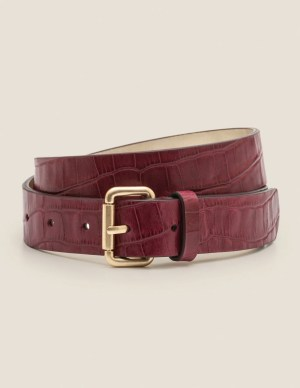Boden Classic Belt in Ruby Red Croc