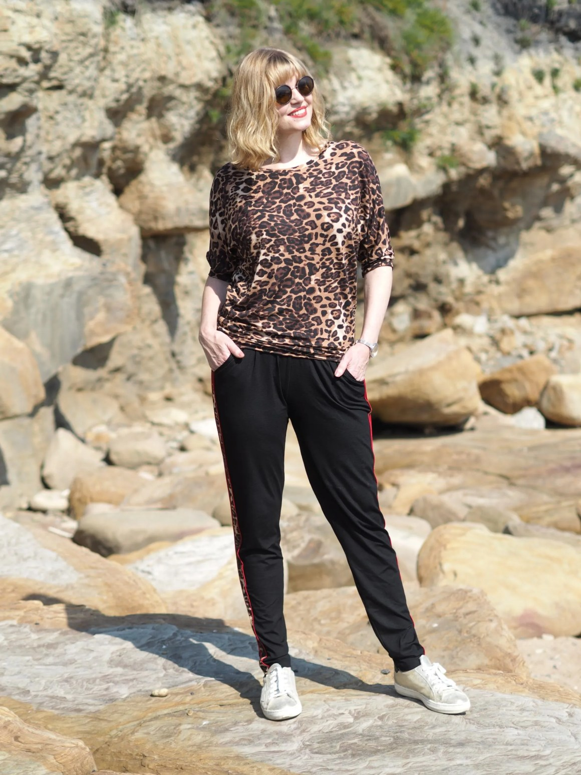 Leopard print yoga clothing