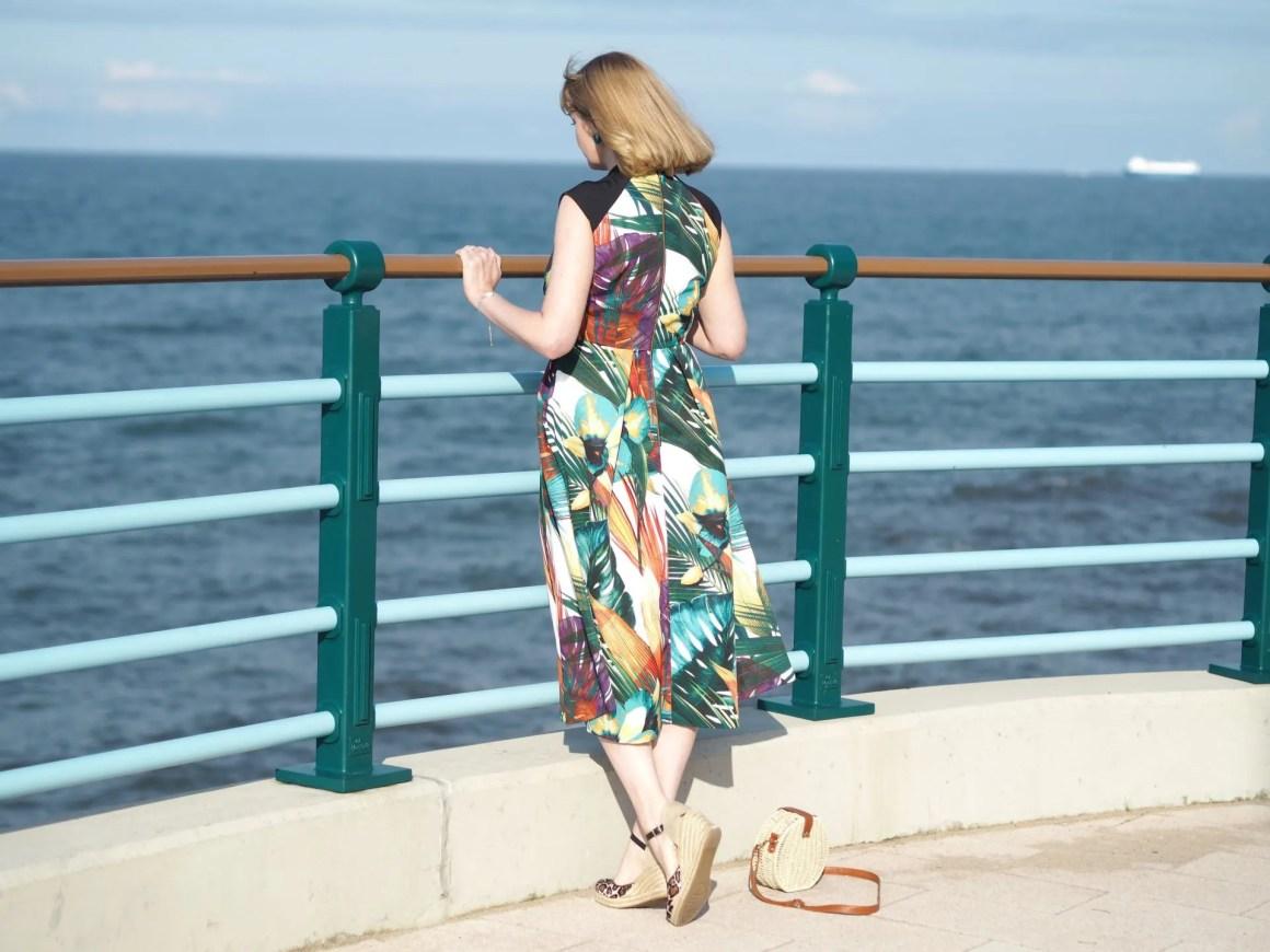 Closet leaf print dress