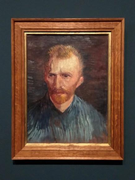 self portrait of Vincent Van Gogh