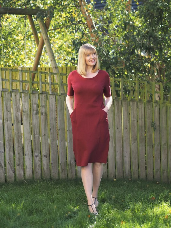 burgundy tunic dress with pockets