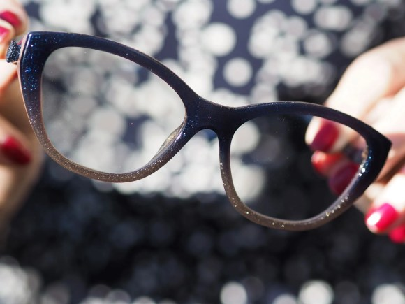 Coach denim and taupe glitter eyewear