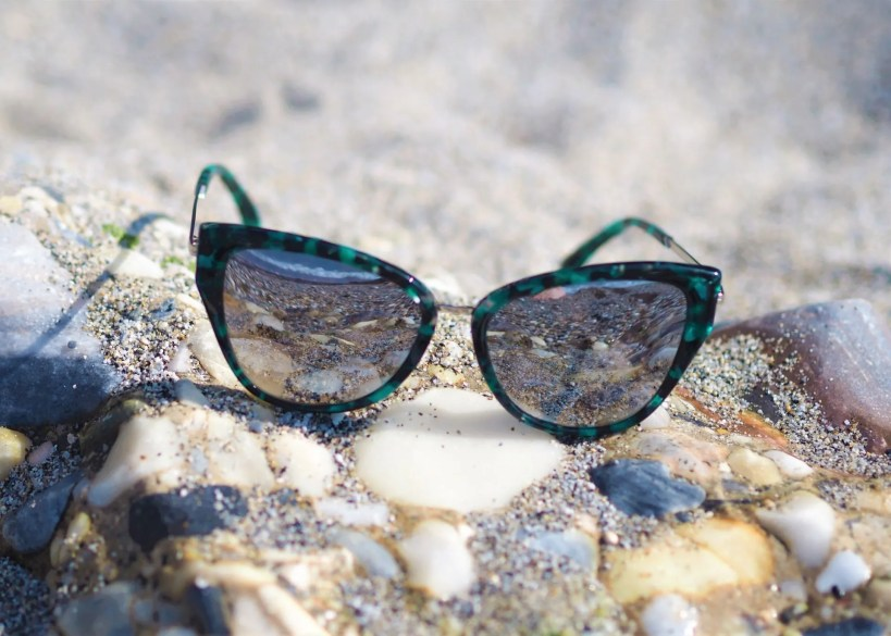 green marble cat eye sunglasses