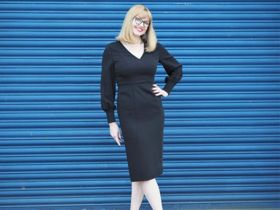 LBD with black eyewear