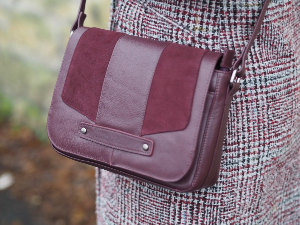 burgundy cross body bag