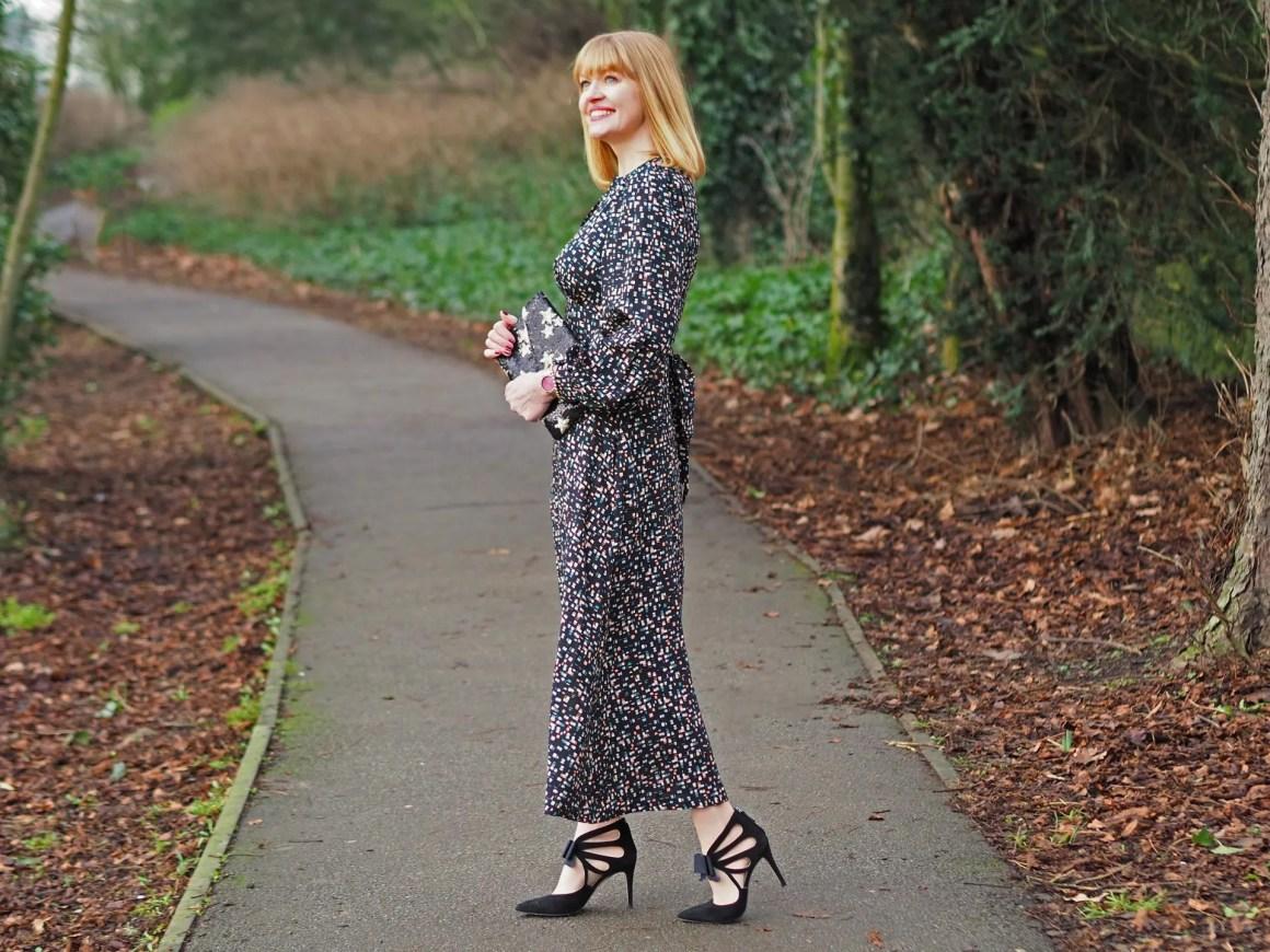 Closet multi coloured statement sleeve maxi dress