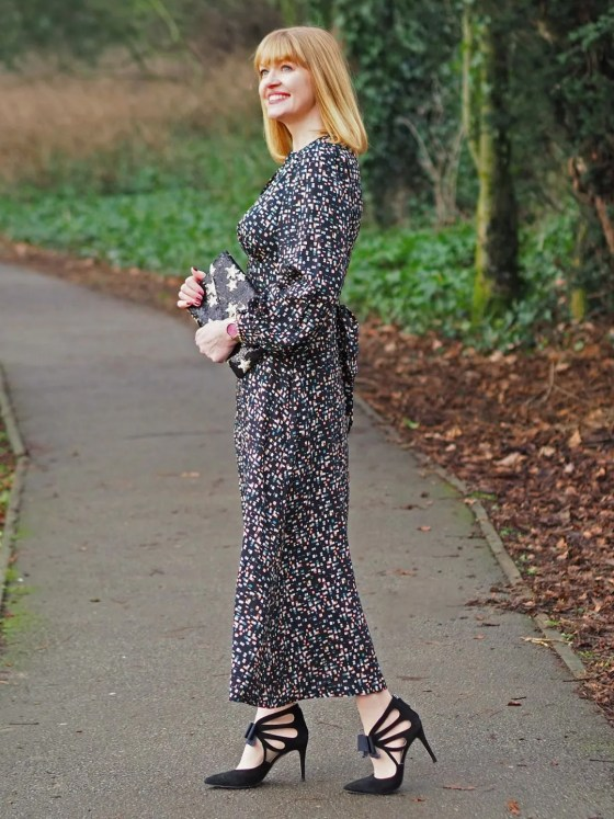 Closet multi coloured statement sleeve maxi dress