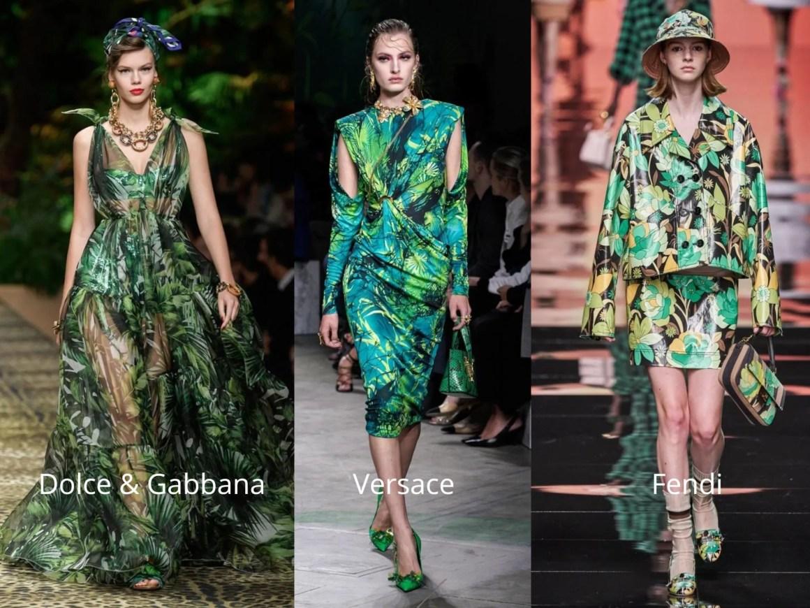 Fashion and eyewear trends 2020 tropical leaf prints