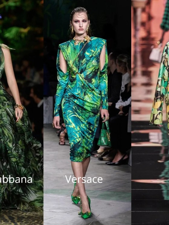 Fashion and eyewear trends 2020 tropical leaf prints