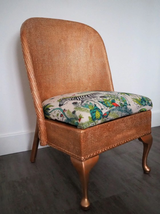 How to upcycle a Lloyd Loom chair