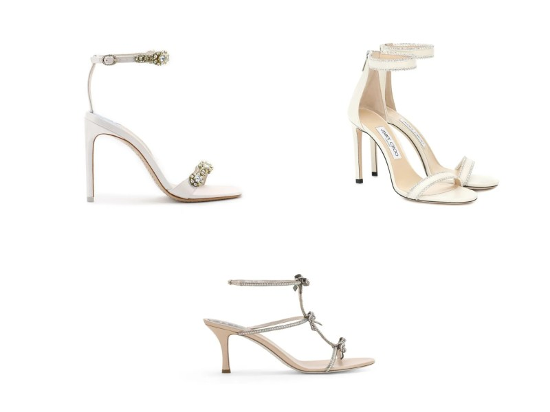 barely there bridal shoes