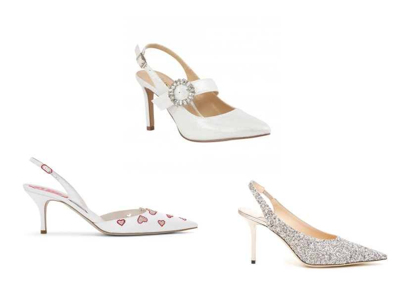 slingback bridal shoes