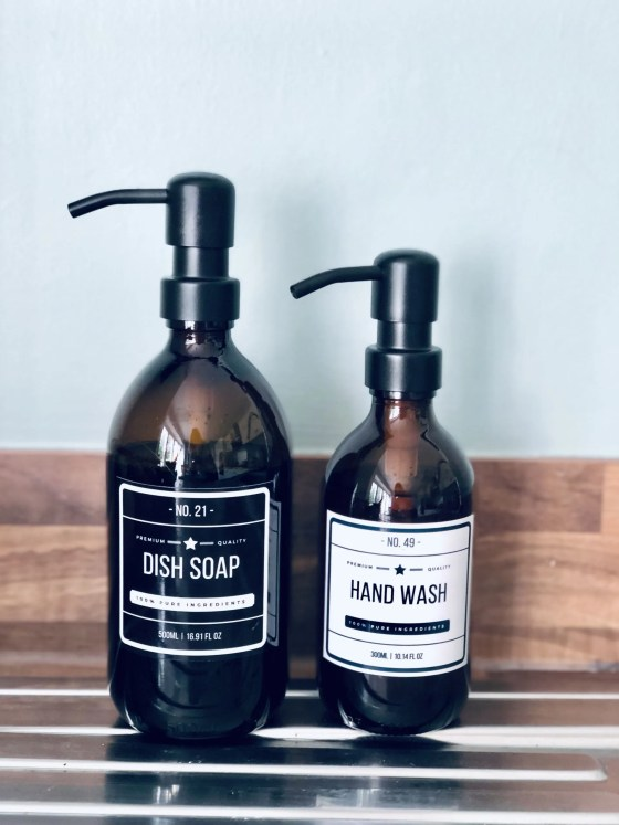 glass refillable soap dispensers