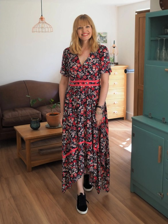 Boden holly hanky hem dress