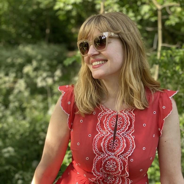 image of woman wearing sunglasses