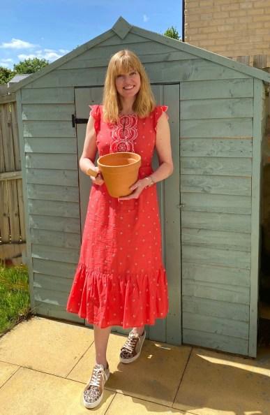 turquoise potting shed