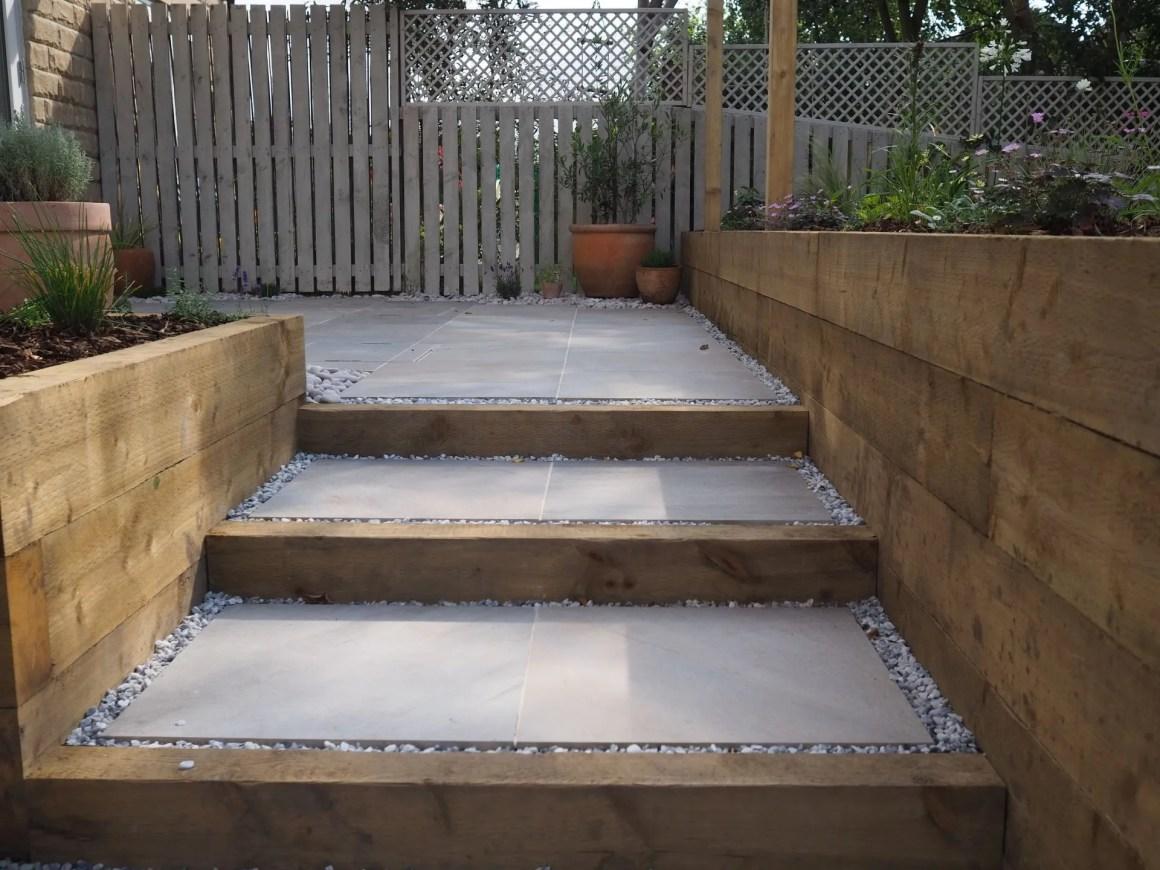 elegant garden steps