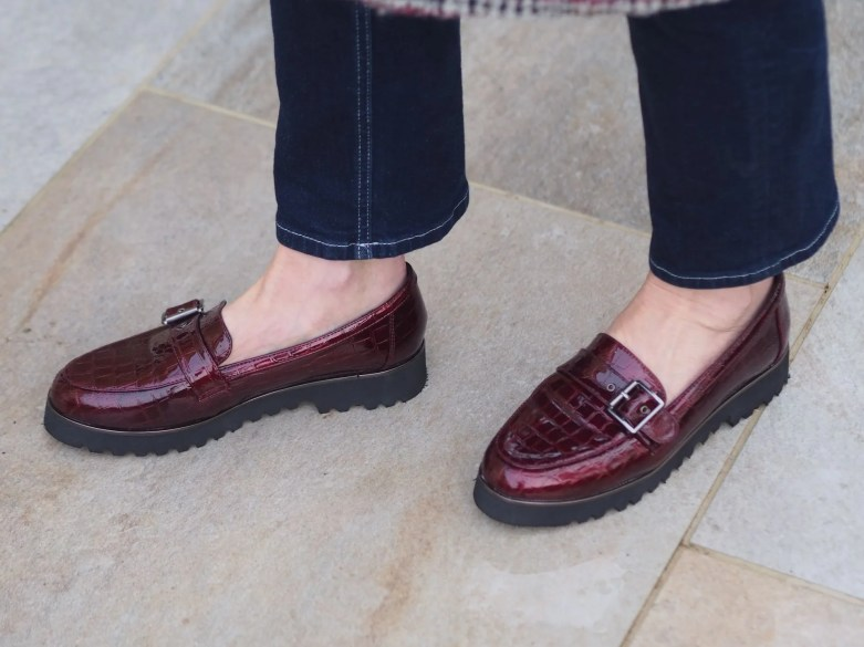 chunky loafers outfit