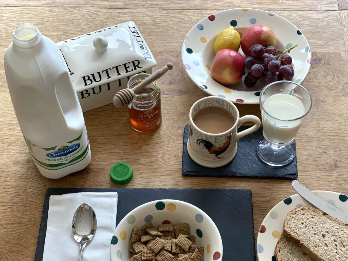 filtwer out waste with Arla Cravendale milk