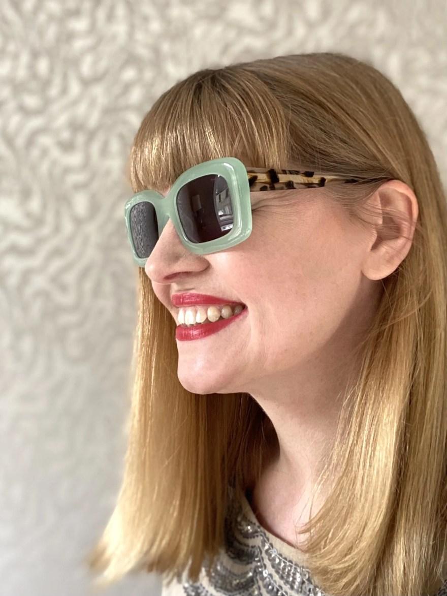 Scotch and Soda peppermint green square sunglasses