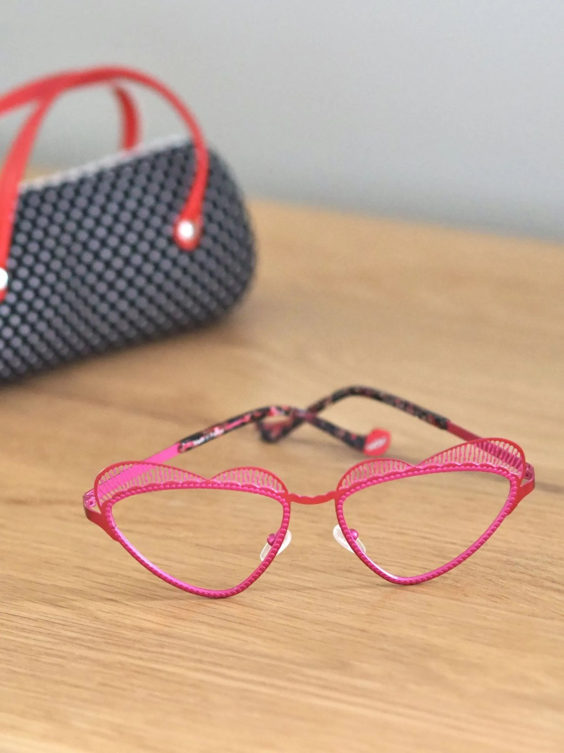 Heart shaped spectacles