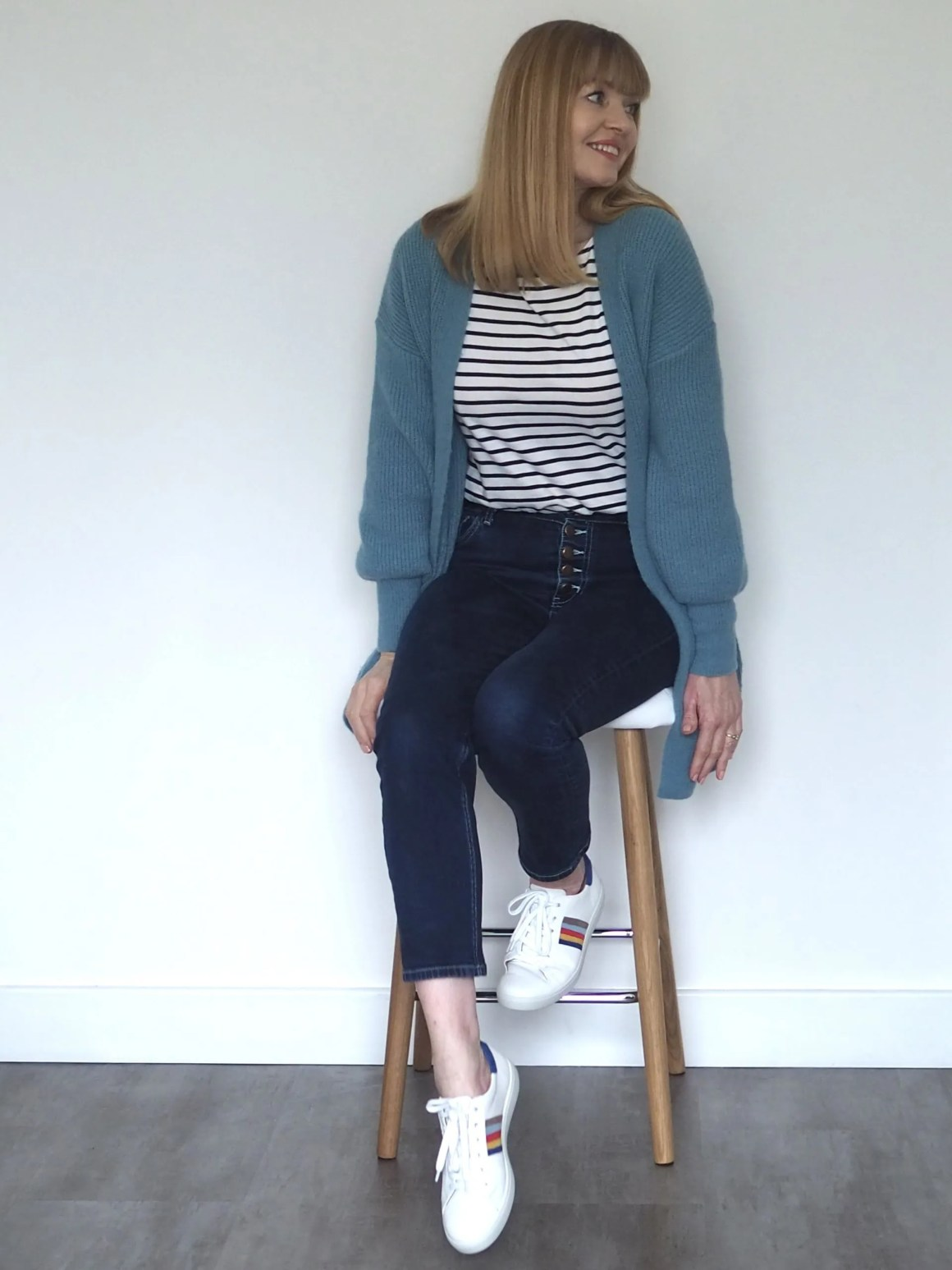 breton top and jeans