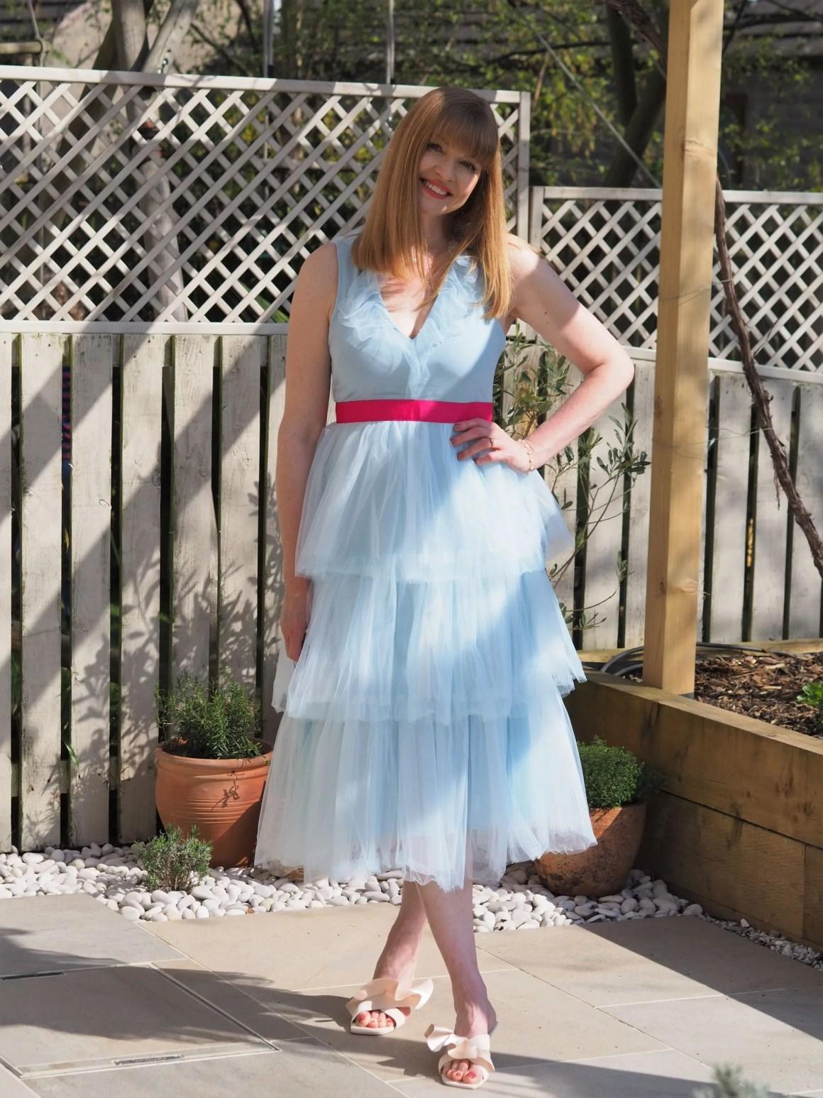 Coast tiered tulle midi dress