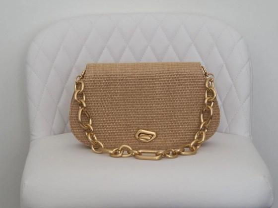 cult gaia alba shoulder bag with matte gold chain handle