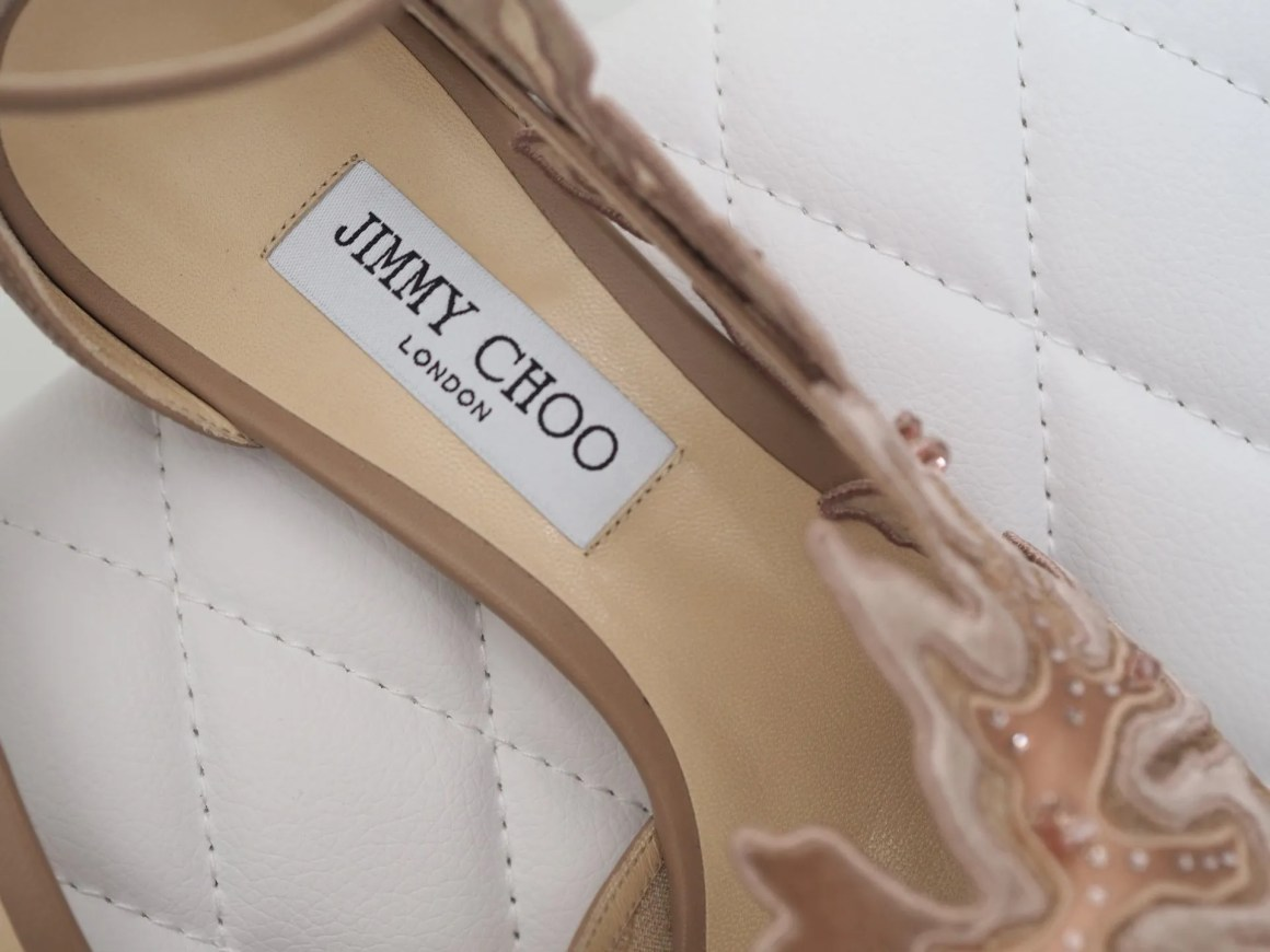 Lucele by Jimmy Choo nude lace wedding shoes high heels