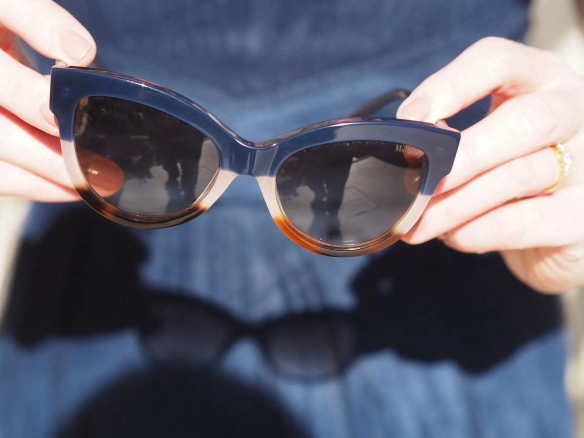 Mulberry navy and brown sunglasses