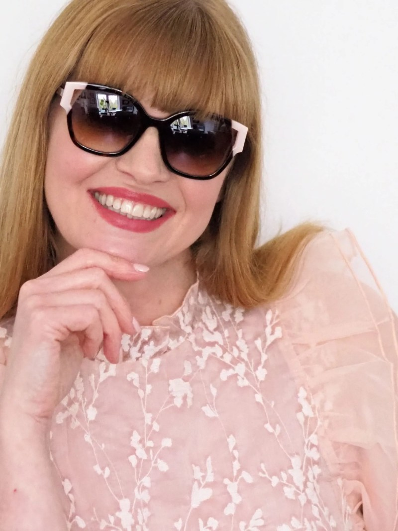 Face a Face Split 2 sunglass style in tortoiseshell and nude pink