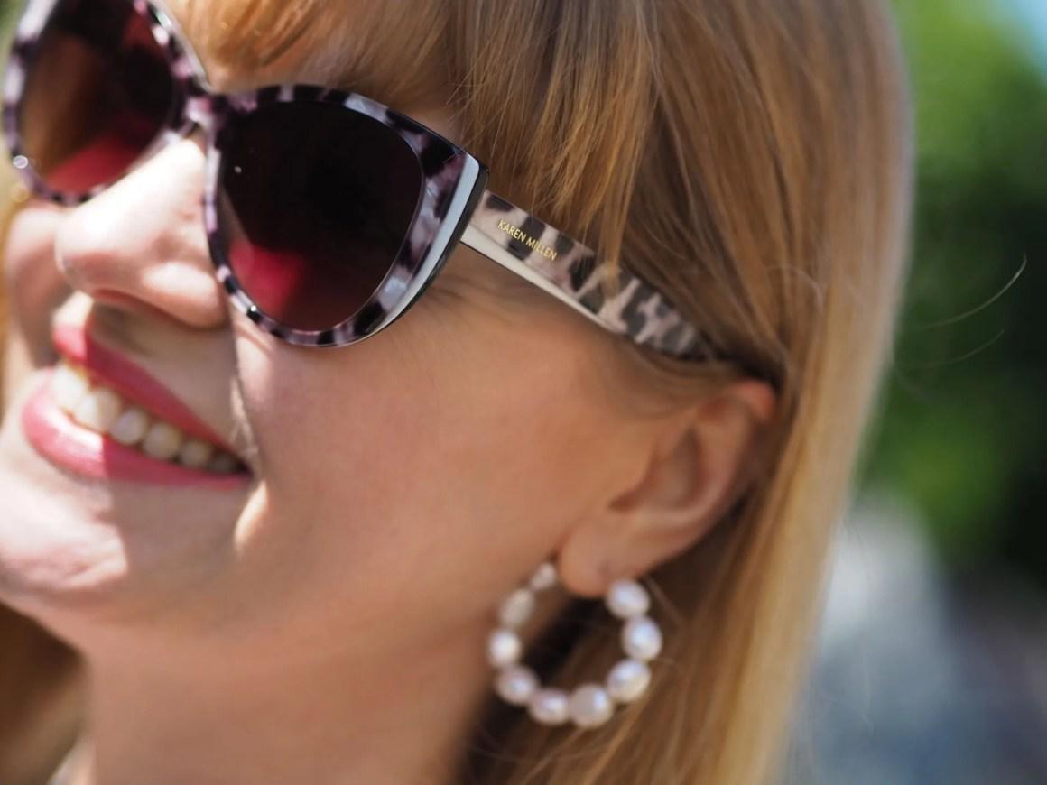 Karen Millen black and white sunglasses