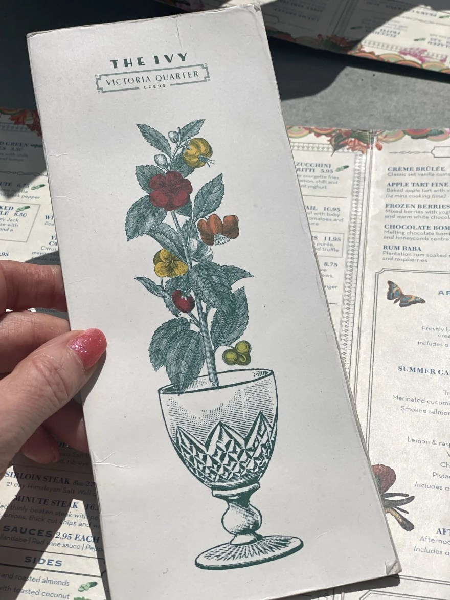 lunch at The Ivy Leeds