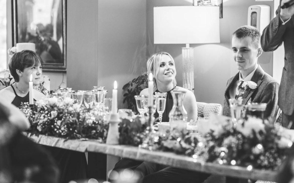 groom making wedding speech
