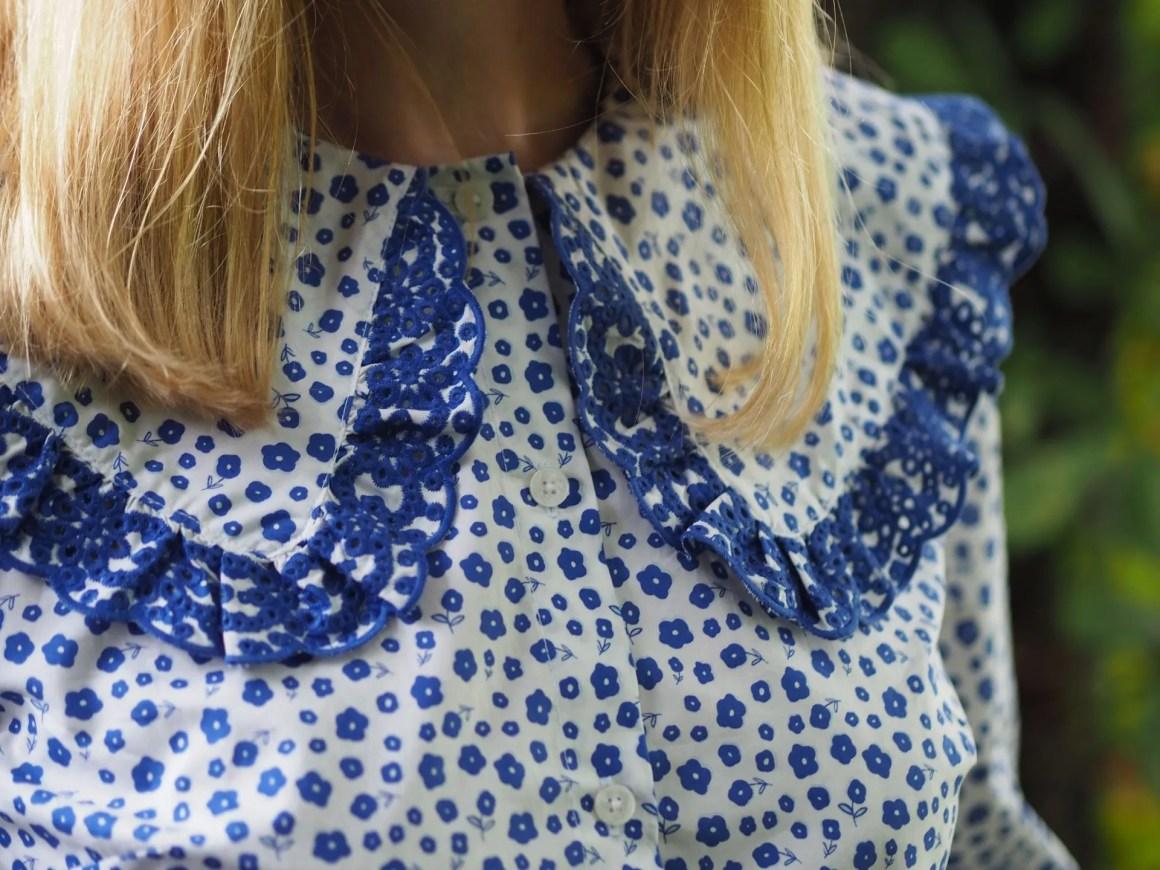 Boden statement collar shirt