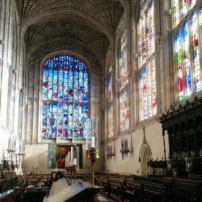King's Chapel from the inside - we went there for a choral evensong which I totally recommend when staying in Cambridge