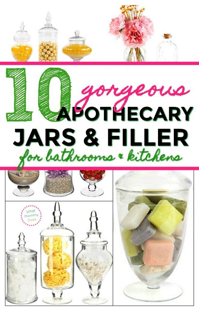 10 gorgeous apothecary jar filler ideas