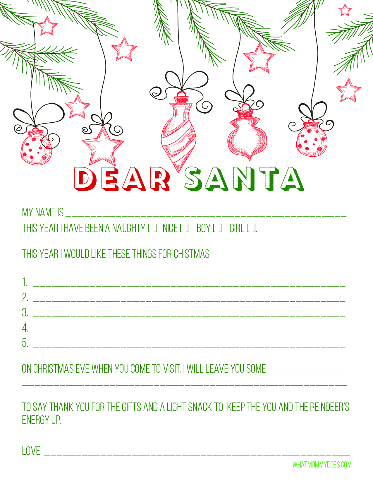 Free Santa Letter Templates How To Mail A Letter To